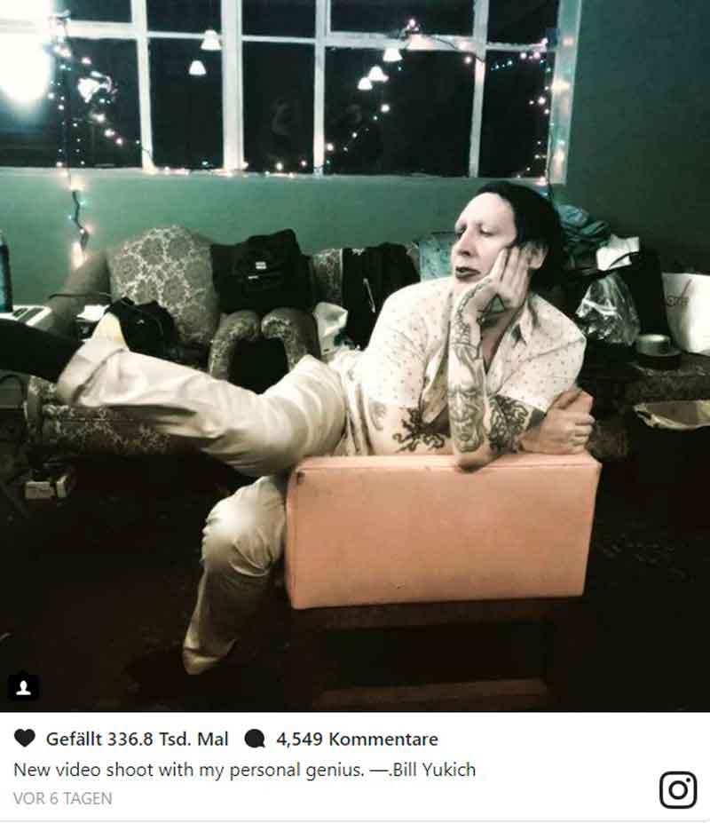 MARILYN MANSON снимает новый клип