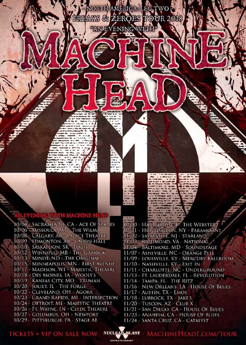 Последний тур MACHINE HEAD
